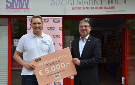 Rio Mare spendet 5.000 Euro für den Sozialmarkt Wien