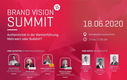 Brand Summit Online am 18. Juni: Authentizität in der Markenführung (kann man nicht lernen)