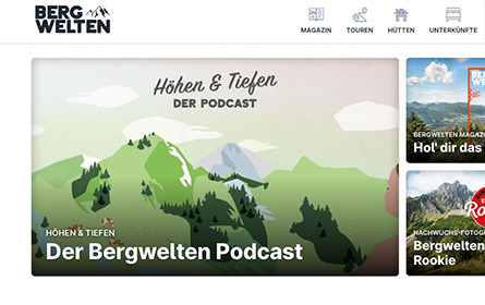 Bergwelten präsentiert neue Website und Outdoor-Podcast