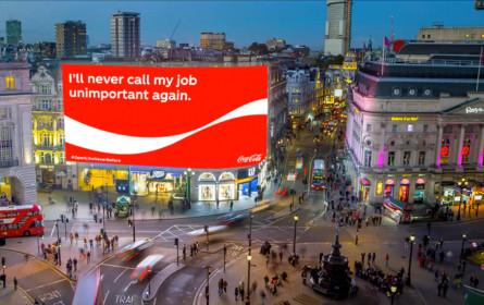 "Coca Cola Kampagne ""OpenLikeNeverBefore"""