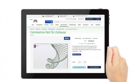 dm bietet Coronavirus-Test zum Kauf an