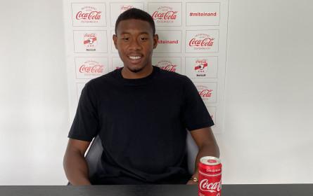 Vertragsverlängerung: David Alaba und Coca-Cola Österreich