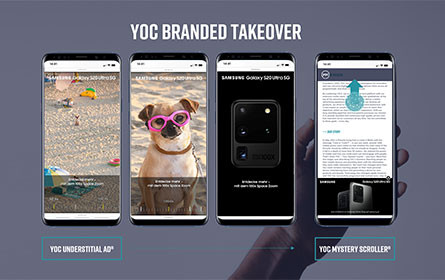 Neues Kombinationsformat Yoc Branded Takeover stärkt Samsung Produktlaunch