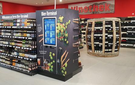 Supermarktkette Edeka mit Innovation: Digitaler Bier-Terminal