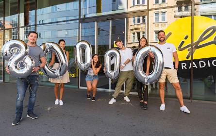 Mit 80.000 täglichen HörerInnen ein neuerlicher Reichweitenrekord bei Life Radio Tirol