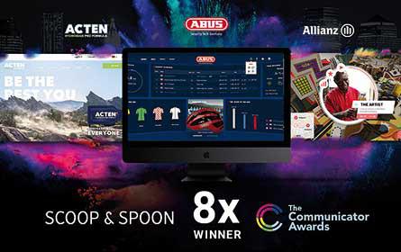 Scoop & Spoons Innovationen mit acht Communicator Awards geehrt