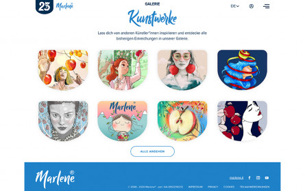 Ein Apfel wird 25 Jahre – Kunst-Contest für Marlene