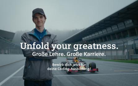 """Unfold your greatness. Große Lehre. Große Karriere"""