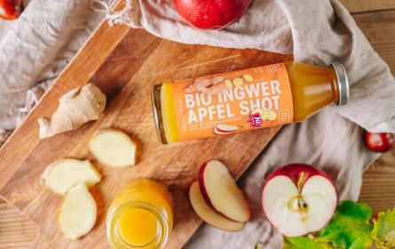 Ja! Natürlich Ingwer-Apfel-Shot neu in den Regalen