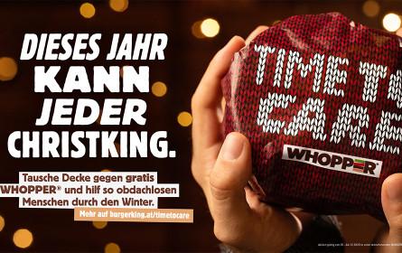 Burger King und Jung von Matt Donau starten  Weihnachtskampagne