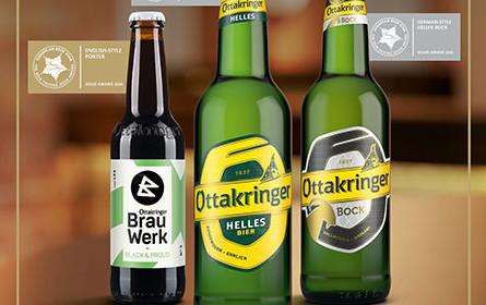 Gold und zweimal Silber für Ottakringer beim European Beer Star 2020