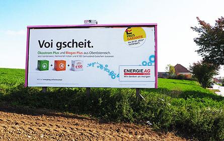 upart wirbt für Energie AG voi oberösterreichisch