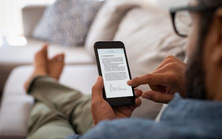 websms ermöglicht reibungslose Vertragsunterzeichnung am Smartphone