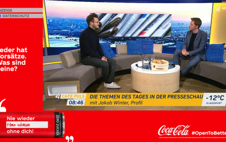 ProSiebenSat.1 Puls 4 setzt für den Kunden Coca-Cola erstmals SwitchIn Masthead mit Tagesfixplatzierung ein