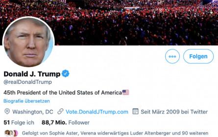Online-Netzwerke sperren Trumps Konten wegen Randale in Washington
