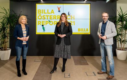 Billa Österreich Report 2021 zeigt Rückgang des Wohlbefindens