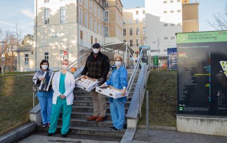 DerMann Krapfen-Überraschung für Covid-Krankenhauspersonal