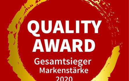 Erster Platz beim market Quality Award für Weber Grills