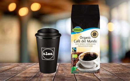 """Lidl Österreich: """"Coffee to Go"""" im neuen Mehrwegbecher"""