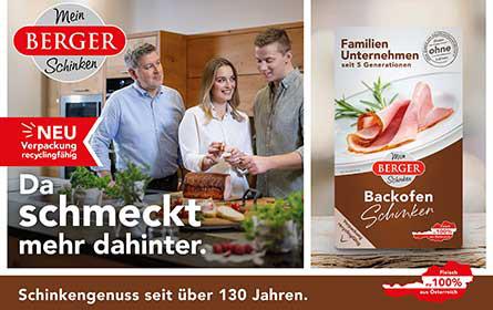 Berger Schinken setzt auf wiederverwertbare Verpackungen