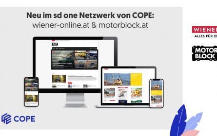 wiener-online.at & motorblock.at sind neu im sd one-Netzwerk von Cope
