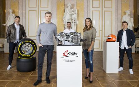 Nico Hülkenberg und Christian Klien als Formel 1-Experten bei ServusTV