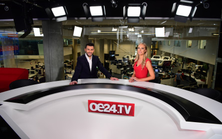 oe24.TV mit 1,44 Prozent Marktanteil (12-49) im Februar