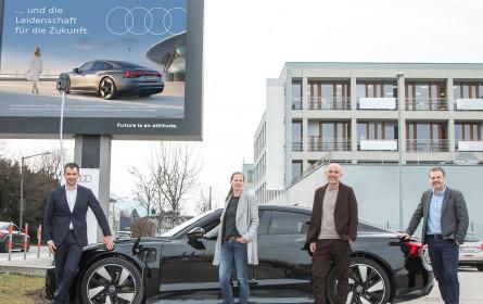 Epamedia präsentiert österreichweit neuen Audi RS e-tron GT mit kreativer Sonderumsetzung