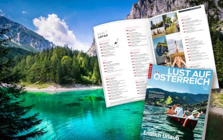 """""""Kurier"""" macht mit neuem Reisemagazin """"Lust auf Österreich"""""""