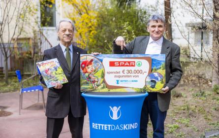 "Spar spendet 30.000 Euro an ""Rettet das Kind"""