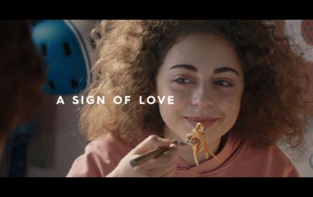 Pasta ist ein Zeichen der Liebe