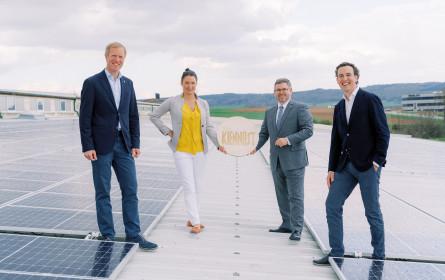 LR Schleritzko eröffnet Solarkraftwerk bei Handelshaus Kiennast in Gars