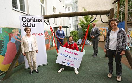 Spendenziel erreicht: 100.000 Euro für 3.000 Schlafplätze in den Caritas Mutter-Kind-Häusern
