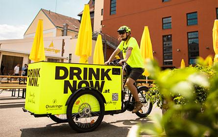 """""""Drink Now"""": Neues Start-Up der Ottakringer-Gruppe liefert kalte Getränke per E-Lastenbike"""