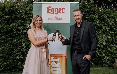 Egger Bier und Lisa Hauser verlängern Sport-Sponsoring-Partnerschaft