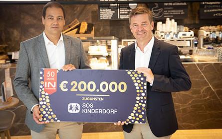 Interspar unterstützt SOS-Kinderdorf mit Jubiläumsspende