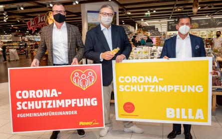 Stadt Wien und Rewe Group bieten Covid-Schutzimpfung ohne Termin bei der Supermarkt-Kassa