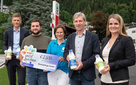 Spar und Tirol Milch – Spende in Oetz