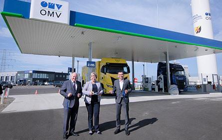 OMV eröffnet in Himberg ihre erste LNG-Tankstelle in Österreich