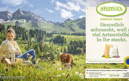 Heumilch bringt starke Herbstkampagne zum Thema Artenvielfalt