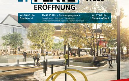 Eröffnungsfeier des Kaiser-Josef-Platzes mit Herbst-Shopping Night