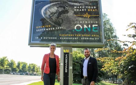 Freizeitpark Jumpworld eröffnet mit Out-of-Home in Klagenfurt