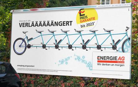 upart: Extralarge Werbung für Energie AG