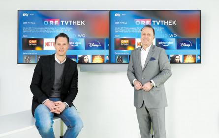 ORF-TVthek via Sky verfügbar
