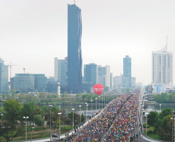 Vienna City Marathon ist ein Gästemagnet