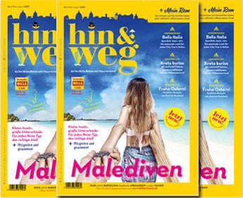 """Billa und Rewe Austria Touristik launchen Reisemagazin """"hin&weg"""""""