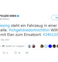 Wiener Polizei twittert 24 Stunden lang alle Streifenwagen-Einsätze
