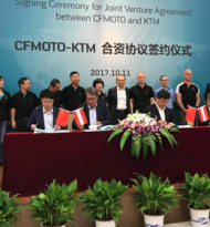 KTM schließt Joint Venture in China ab