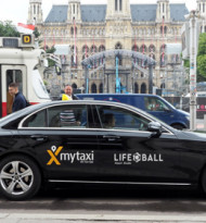 mytaxi unterstützt den Life Ball