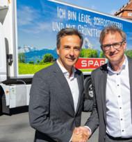 Spar testet den ersten reinen E-Lkw in Graz